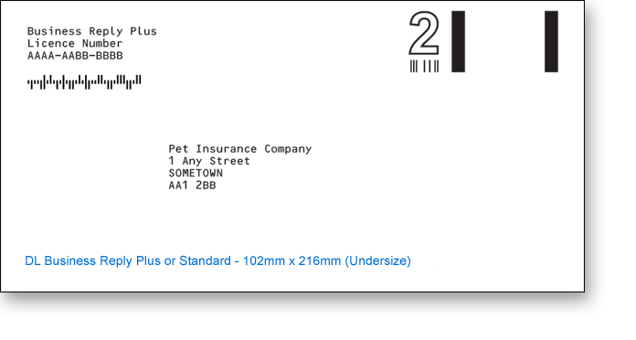DL Undersize Business Reply Envelope