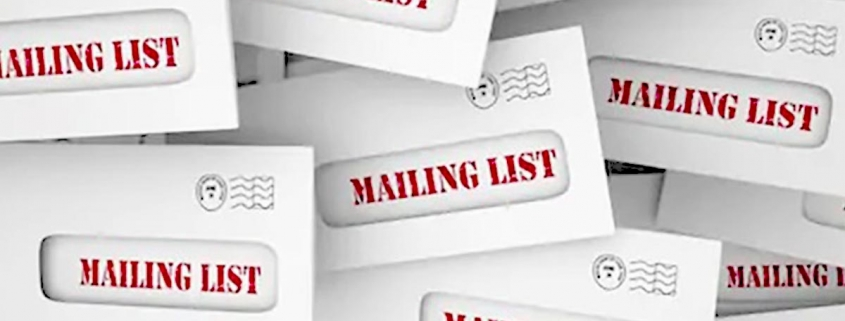 Mailing list direct mail cleaning services